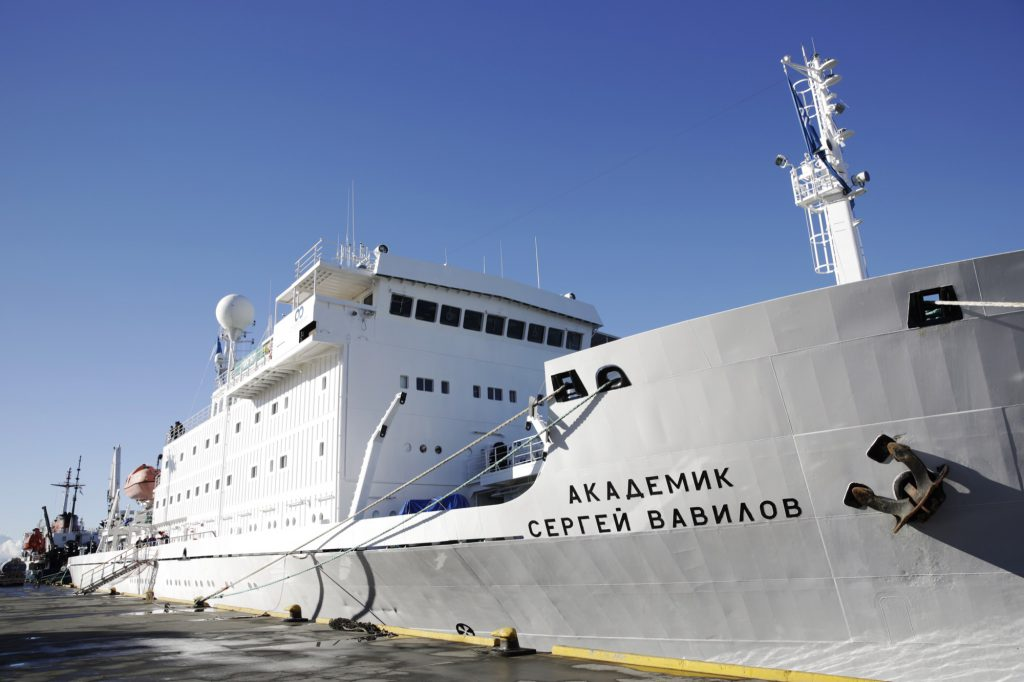 The Antarctic Biennale Ship: the Akademik Sergey Vavilov. © Frederick Bernas